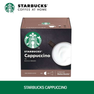 STARBUCKS Cappuccino by NESCAFE DOLCE GUSTO Coffee Capsules Box of 6+6 120g