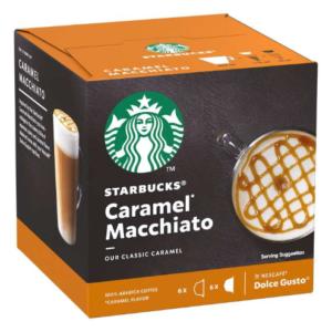 STARBUCKS Caramel Macchiato by NESCAFE DOLCE GUSTO Coffee Capsules, Box of 6+6, 127.8g