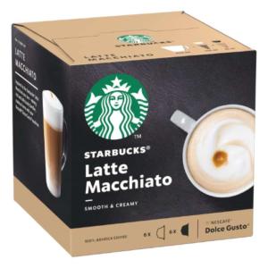 STARBUCKS Latte Macchiato by NESCAFE DOLCE GUSTO Coffee Capsules Box of 6+6 129g