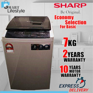 SHARP 7KG Fully Auto Washing Machine ES718X Washer
