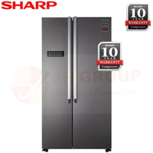 SHARP JAPAN SJX626MS 620L SIDE BY SIDE REFRIGERATOR