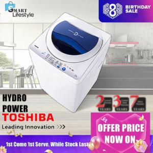 TOSHIBA 7.2 KG CIRCULAR INTAKE WASHING MACHINE AW-F820SM 7.2kg washer