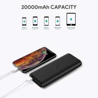 Aukey PB-XN20 20000mAh Type C Ultra Slim Power Bank with USB C Fast Charging 5V 3A