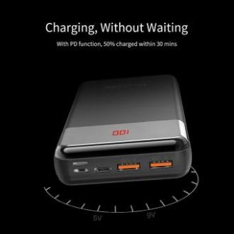 Yoobao 20000mAh Digital Display 18W PD Fast Charging 3 Input Output Type C Power Bank