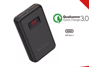 Yoobao PD10 10000mAh Compact PD3.0(PPS) Quick Charging Power Bank with USB-C Input Output