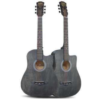 Mukita by BLW Standard STUDENT SERIES Acoustic Folk Cutaway Basic Guitar 38 Inch for beginners