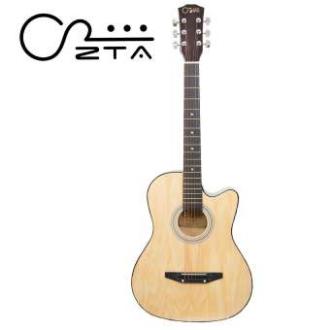 ZTA 38 Inch Acoustic Guitar Natural Cutaway Starter Pack Folk Guitar Bundle