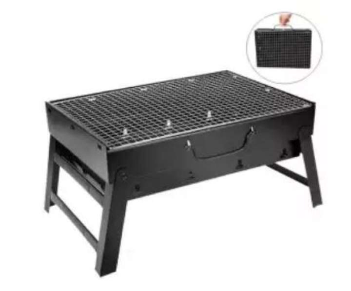 FENZO - Outdoor Portable Folding BBQ Charcoal Grill Picnic BBQ Grill for Barbecue Camping