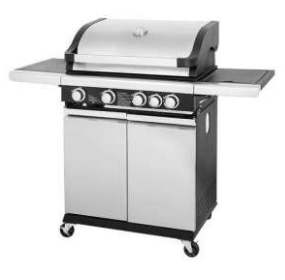 FIRENZZI 4 BURNERS +1SIDE BURNER OUTDOOR STAINLESS STEEL BBQ GRILL