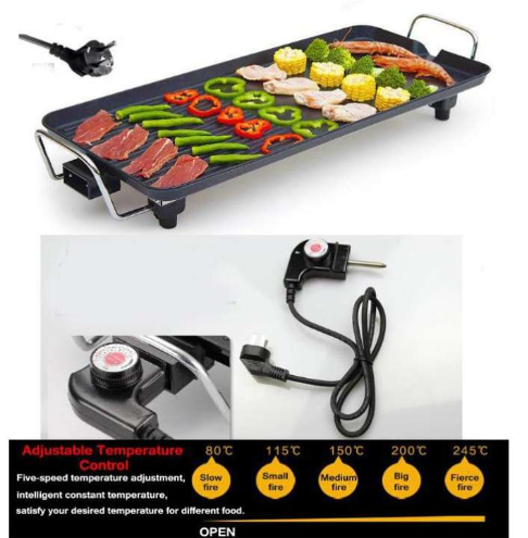Multifunction Korean BBQ Grill household electric oven smokeless barbecue Pan