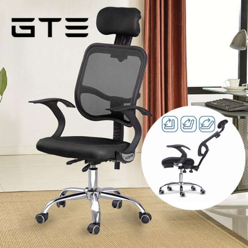 GTE Ergonomic Designed High Backrest Swivel Mesh Office Chair No Footrest