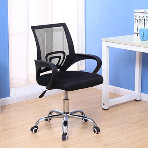 NaVa Mesh Height Adjustable Swivel Medium Back Mesh Office Chair with Chrome Leg