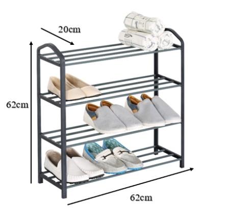 OKURA Modern Simple 4 Tiers Shoe Rack