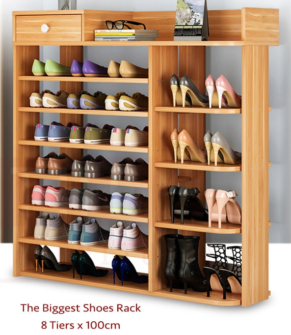 THE Simply Shoes Cabinet Rack Storage Modern Style (100x25x120cm)